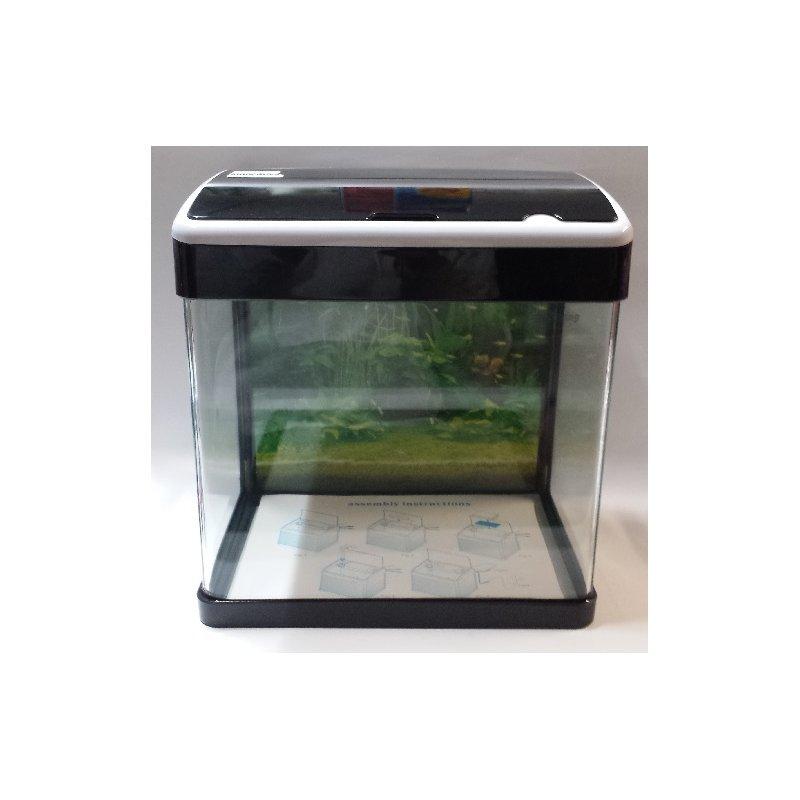 komplett led aquarium 32 liter schwarz wei aquarien. Black Bedroom Furniture Sets. Home Design Ideas